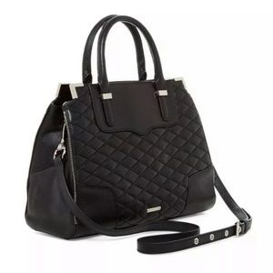 Rebecca Minkoff Black Quilted Amorous Leather Bag